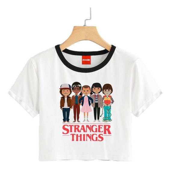 Blusa Stranger Things Colores Playera Once Eleven Crop 119