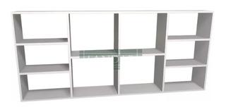 Biblioteca De Apoyo Cubo Minimalista Estante Repisa180x80x25