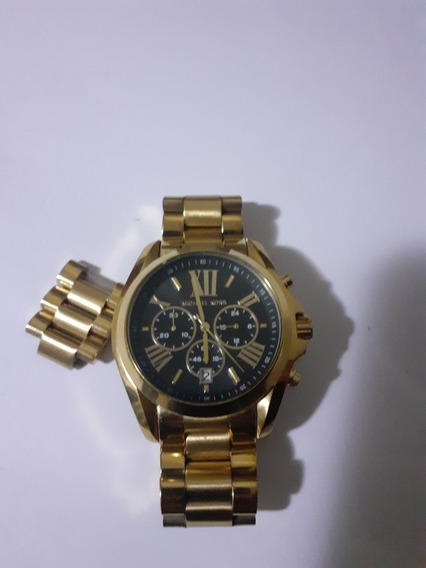 Relógio Unissex Michael Kors Mk 5739 Gold Preto 44mm