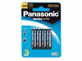Pilha Panasonic Ultra Hyper 1,5 Volts Aaa (4 Unidades)