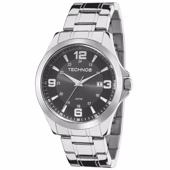 Relógio Masculino Technos Prateado Classic Steel 2115mkt/1c