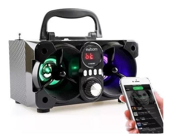 Caixa De Som Bluetooth Portátil Mp3 Usb Rádio Fm Sd