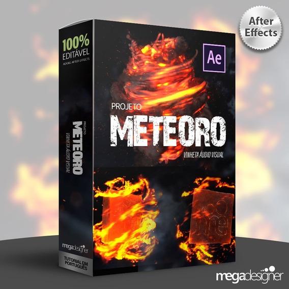 Super Vinheta Animada - Logo Efeito Meteoro - After Effects