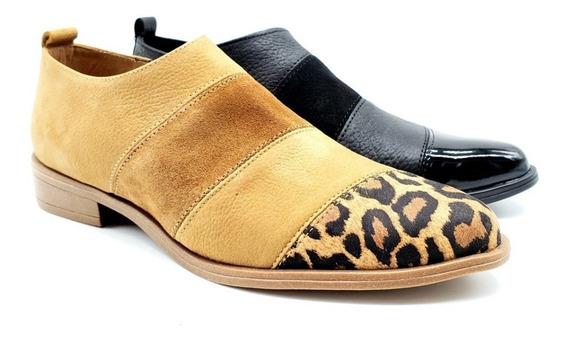 Chata Punta Moda Calzado Zapato Dama Cuero Vacuno 1912/em