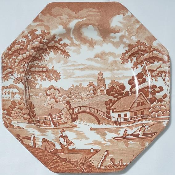 Plato Loza Inglesa Royal Staffordshire Shantung Meakin 25cm