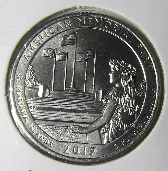 Moneda Usa 2019 P 1/4 Dolar Islas Marinas Del Norte Parques