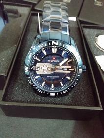 Relogio Naviforce Nf9157 Lindo Top Azul Promoção