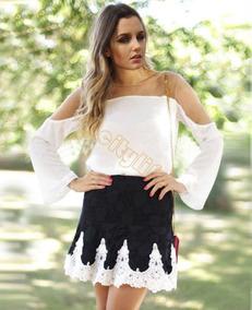 Blusa Branca Com Detalhes Transparente