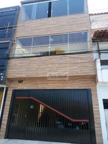 Imagem 1 de 30 de Sobrado Com 4 Dormitórios À Venda, 220 M² Por R$ 400.000,00 - Parque São Rafael - São Paulo/sp - So2002