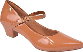 Sapato Feminino Scarpin Salto Baixo Grosso Festa Ref: 36.003