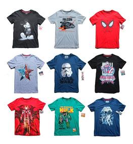 5 Playeras Hombre Marvel Star Wars Disney Negocio Mayoreo