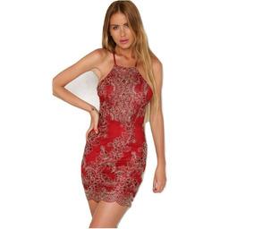 Calidad Fiesta Mujer Corto Apliques Elegante Vestido Casual bfgy6Y7v