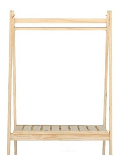 Perchero Plegable 1.2 X 0.6m Pino Vestidor Ropero C/est Deck