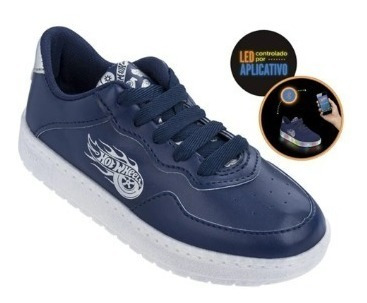 Tenis Hotwheels - Branco Leitoso/azul - 21813