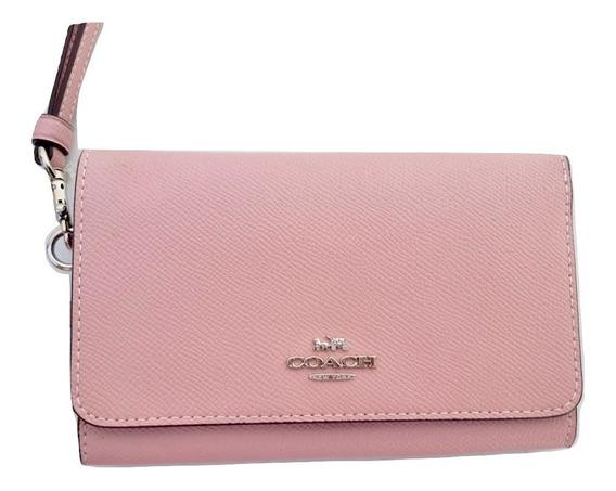 Coach Cartera Grande Dama Smartphone Rosa 100% Original