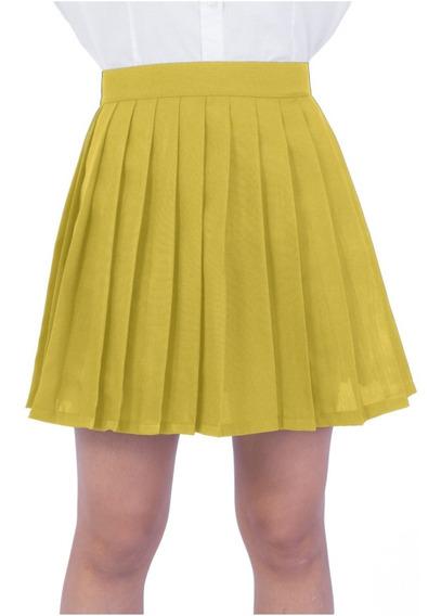 Saia Pregueadas College Preta Cosplay - Várias Cores - Preta | Cinza | Amarelo | Verde | Vermelho | Branca | Rosa ...