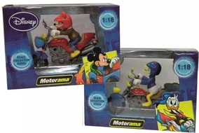2 Motos Donald E Mickey Disney Clássicos Motorama 1/18