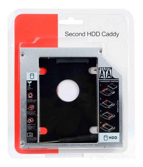 Case Adaptador Caddy 2º Hd Ssd/dvd Notebook 12mm 12,7mm