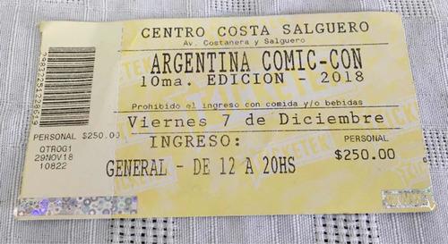Entrada Comic-com 10 Ma. Edición - Costa Salguero -usada -