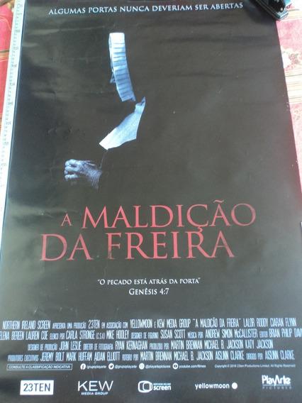 Poster:cartaz:a Maldição Da Freira:terror:cinema:94cmx64cm