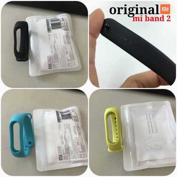 Pulseira 100% Original Borracha Silicone Xiaomi Mi Band 2