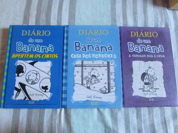 Diário De Um Banana - Jeff Kinney (lote Com 3 Livros)