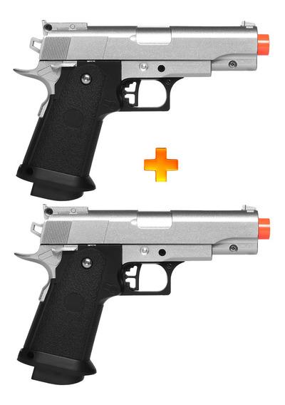 2 Pistolas De Airsoft Spring G10s Modelo 1911 Full Metal