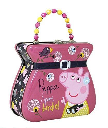 The Tin Box Company Peppa Pig Purse Tin Carry, Rosa