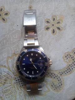 Reloj Orient Original Agujas De Oro Malla ,a Cuerda