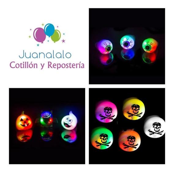 Anillos Luminosos Led Luz Halloween X 6 U Ojos Fantasma