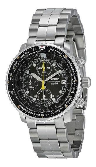 Seiko Sna411 Flight Alarm Chronograph 12x S/j Fr Gratis