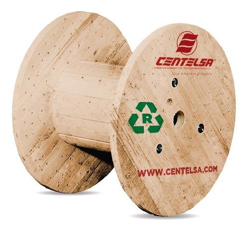 Imagen 1 de 6 de Carreta De Madera Cable Electrico Bobina De Cable Rollo 50cm