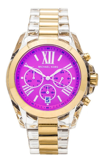 Relógio Michael Kors Mk5949 Orig Chron Anal Acryl Gold