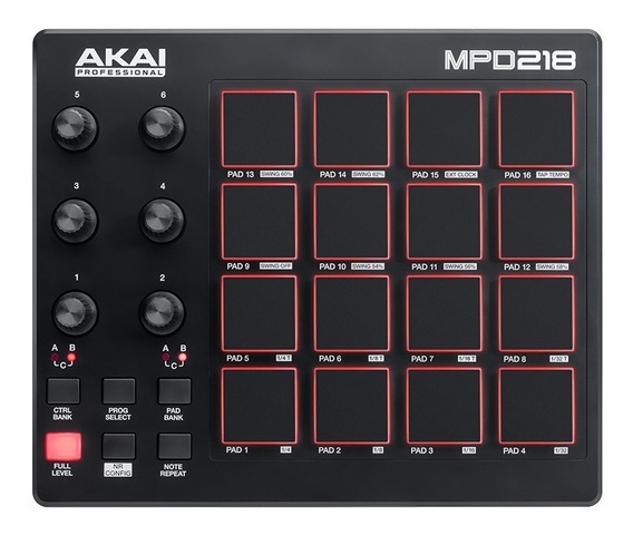 Akai Mpd218 Mpd 218 Controlador Midi Usb Dj 16 Pads . Loja !