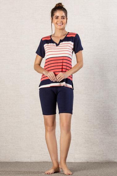 Pijama Viscolycra Com Bermuda Feminino - Ref. 5410