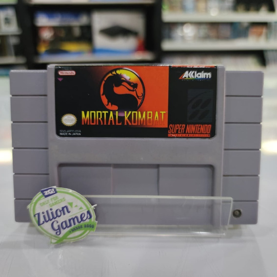 Mortal Kombat Super Nintendo Snes Original