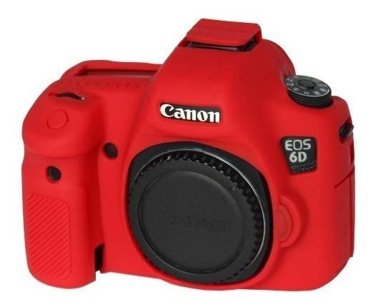 Case Ou Capa De Silicone Para Camera Canon 6d Vermelho