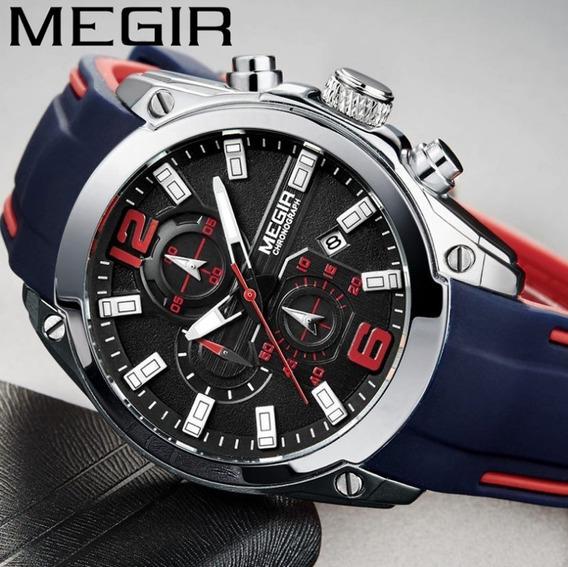 Relógio Masculino Megir Quartzo Ponteiro Luminoso V1