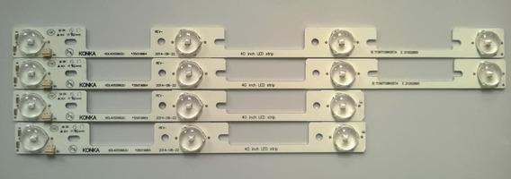 Kit C/4 Barras Toshiba Dl3244 32l2400 Dl3245 Leia Anuncio