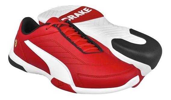Tenis Casuales Puma Sf Kart Cat Iii Hombre 30621901 Rojo