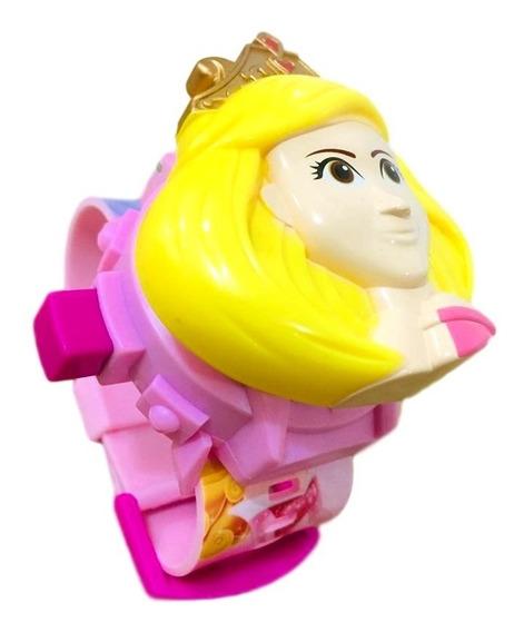 Relógio Infantil As Princesas Projetor 24 Grids Brinquedo