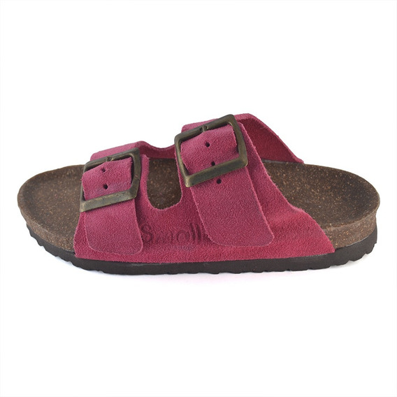 Sandalias Birken Fucsia Suela De Corcho Small Shoes