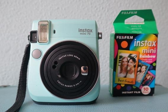 Camêra Instax Mini 70 Com 10 Filmes Rainbow Fujifilm