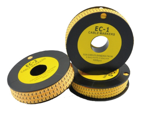 Paquete De Anillo Marcador Para Cable (0-9)(+,-)