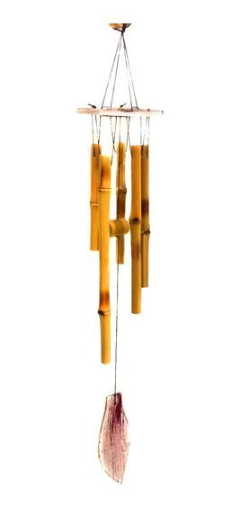 Mobile Bambu Mensageiro Sino Dos Ventos Senhor Barulho 60cm