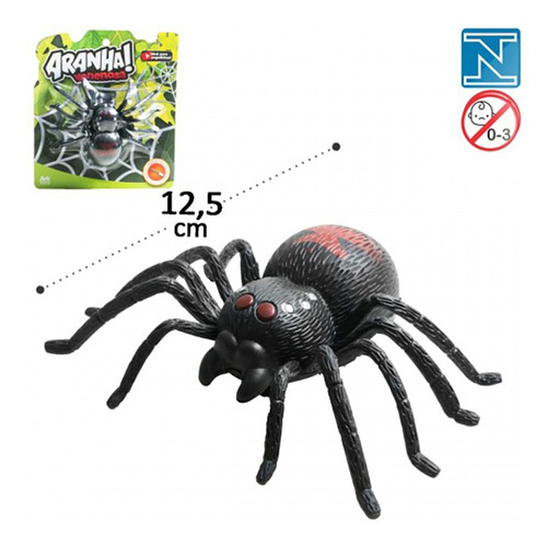 Aranha Venenosa Brinquedo A Corda Aracnídeo 12,5cm