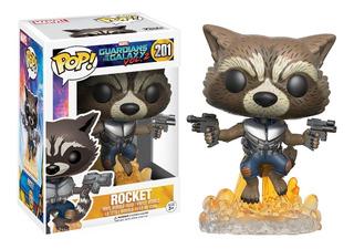 Funko Pop Rocket #201 Guardianes De La Galaxia Regalosleon