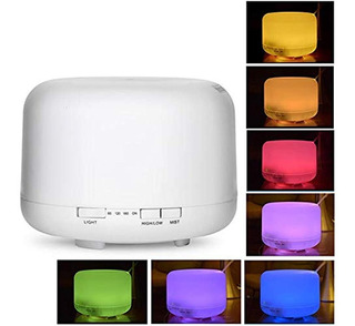Aromatizador Led Colores Humidificador Difusor Aroma Oms