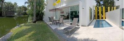 Cad Xcaret Villa 98 Alberca Privada, Estancia Con Vista Al Lago, Promoción!
