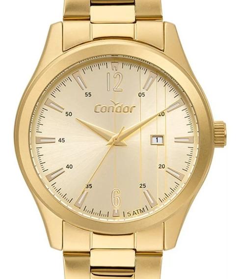 Relógio Masculino Condor Dourado Co2115kuz/4x Original + Nfe